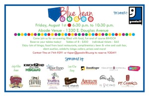 Blue Jean Bingo Invitation