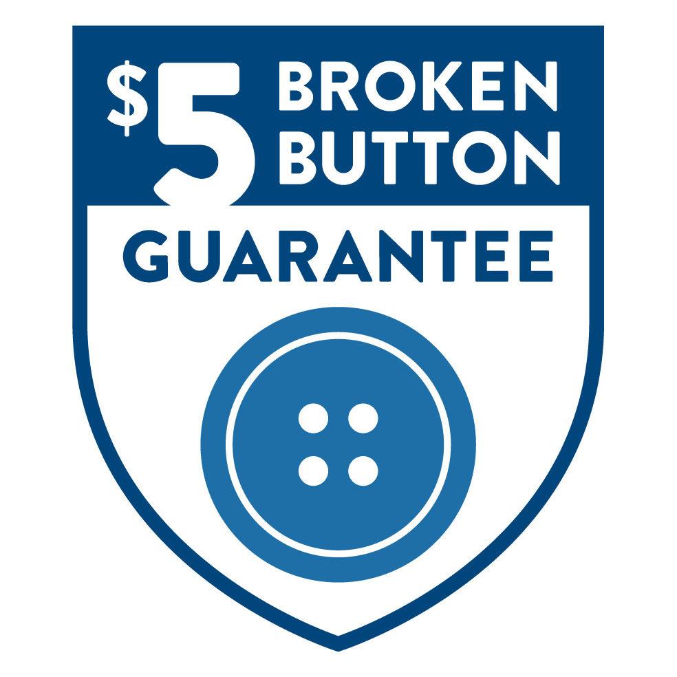 $5 Broken Button Guarantee Badge