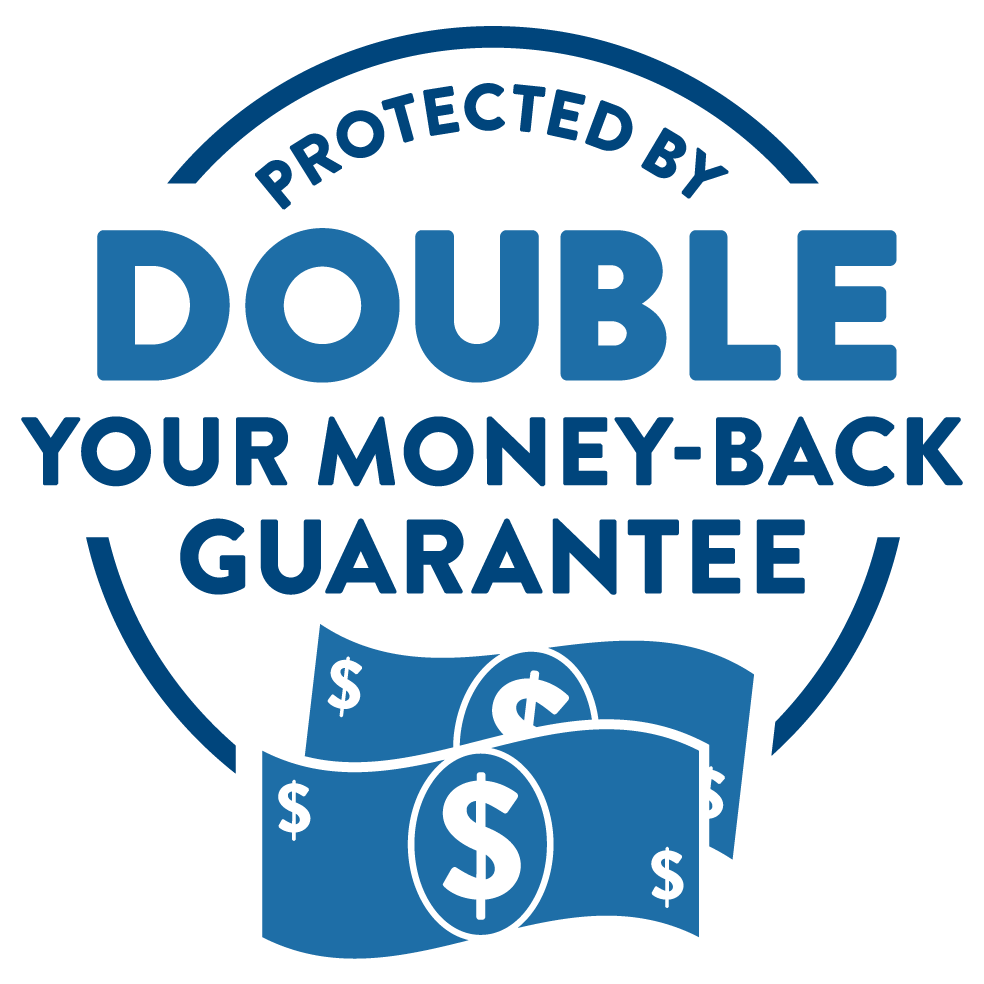 Double Your Money-Back Guarantee Badge